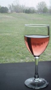 Rose wine in the country
