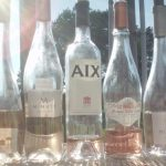 Rose wines in the sun