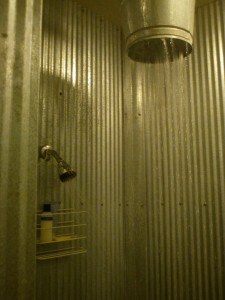 Bucket Shower in the Circle S Cowboy Room